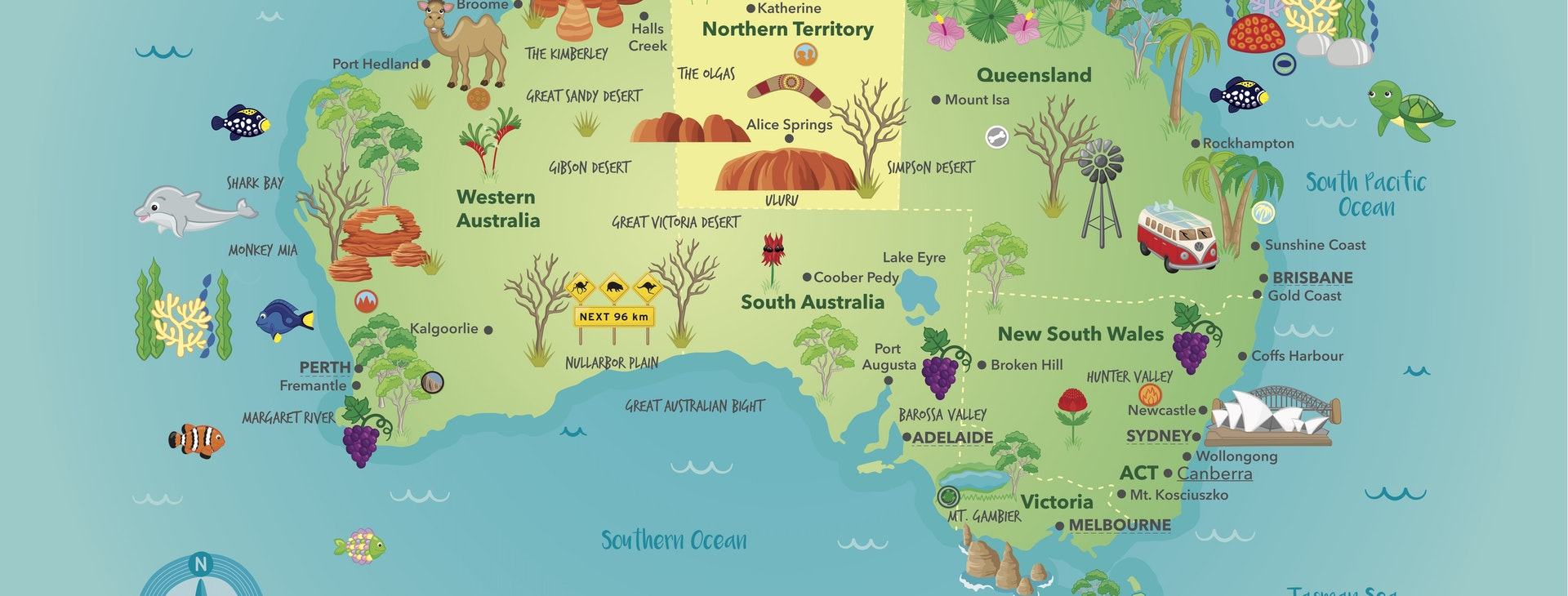 Introduction to the Map of Australia - Inquisitive Unit