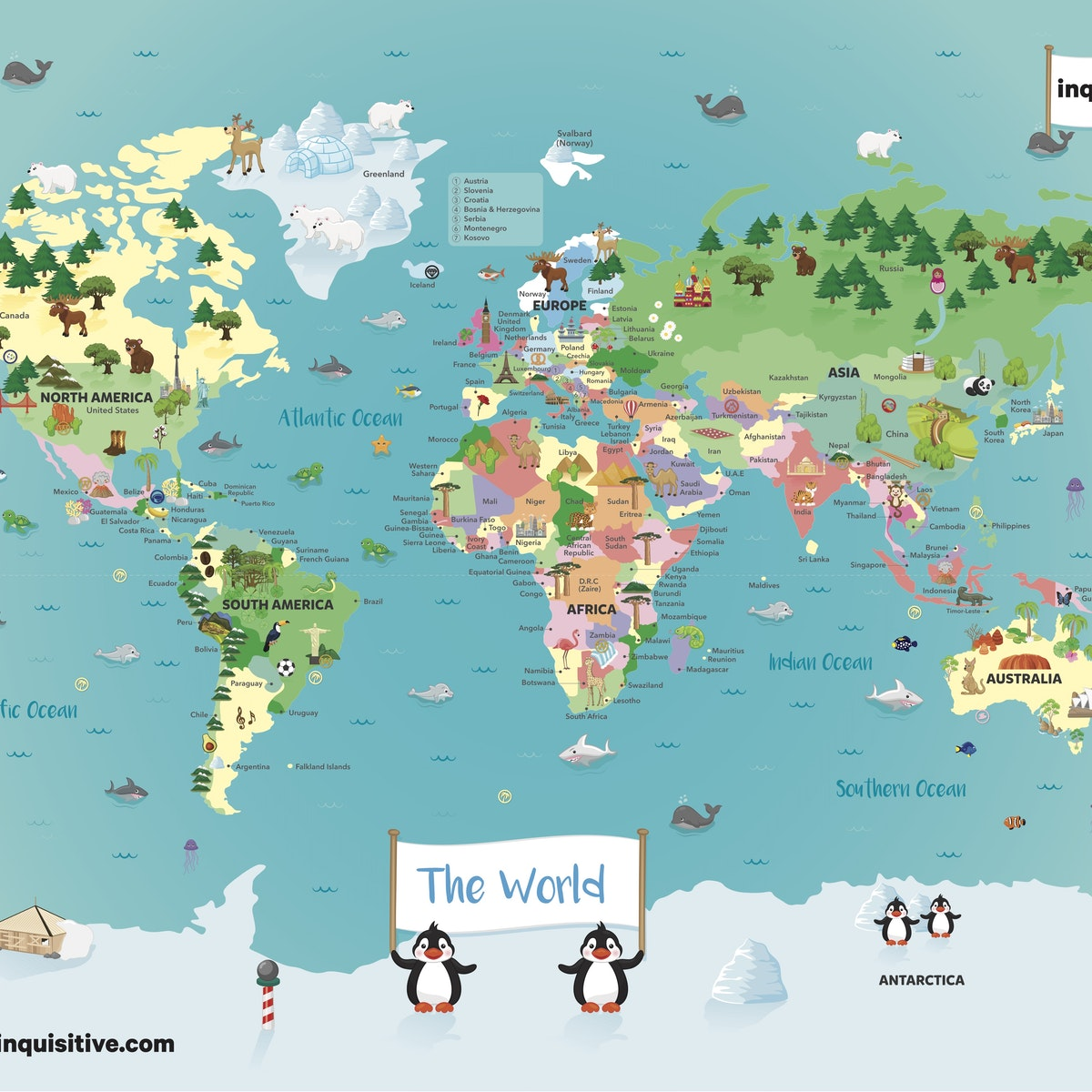 Image Map Of The World.Map Of The World Lesson Inquisitive Lesson