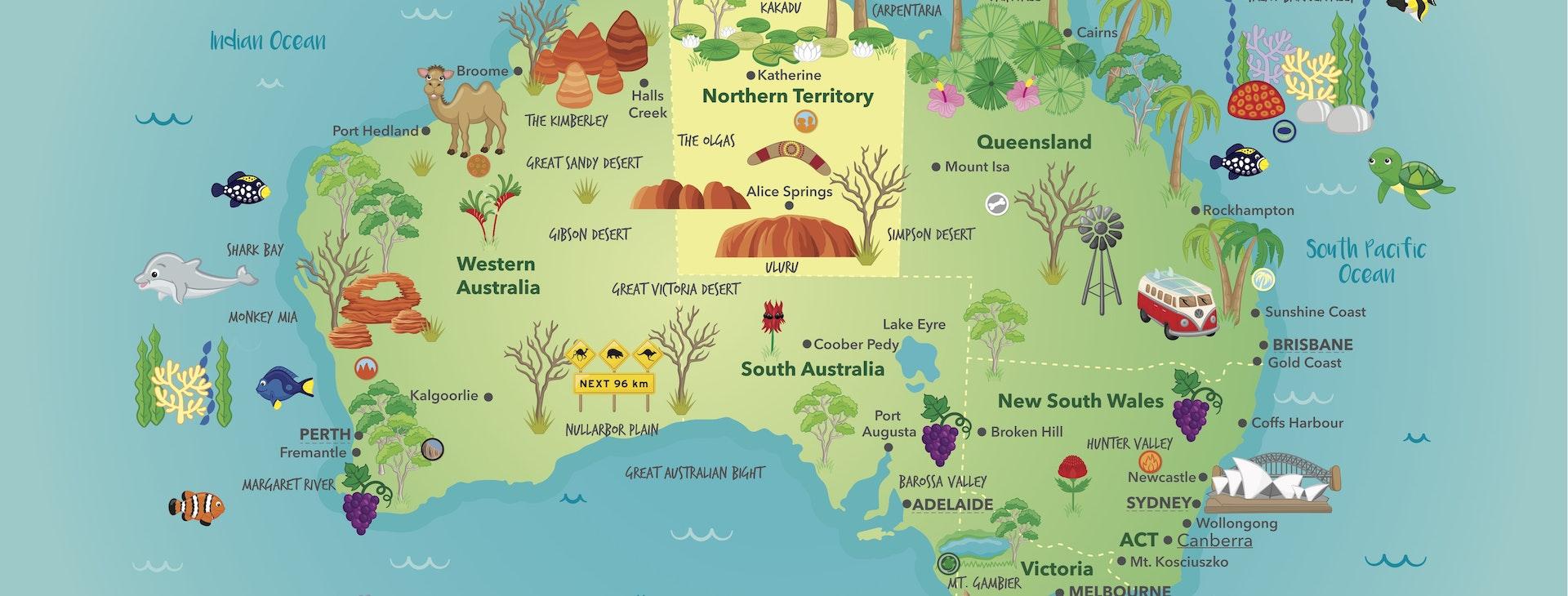 Map of Australia lesson - Inquisitive Lesson